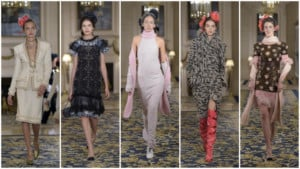 Looks from Chanel's 2017 Métiers d'Art collection. (WWD)